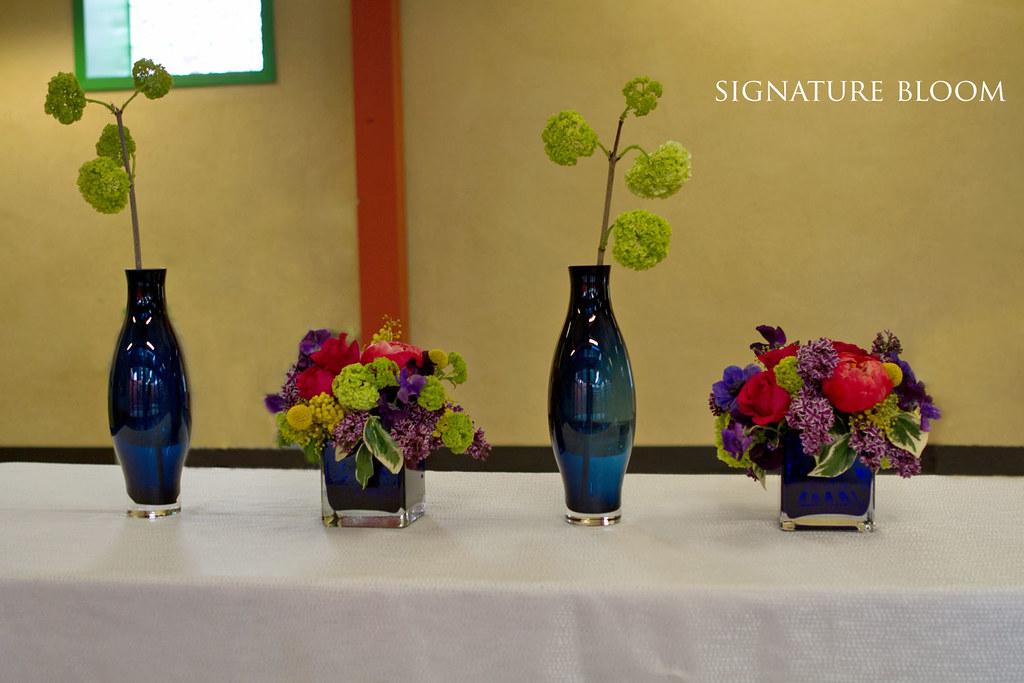 San Jose Bridal Florist Blue Centerpieces Ideas Viburnums Flickr