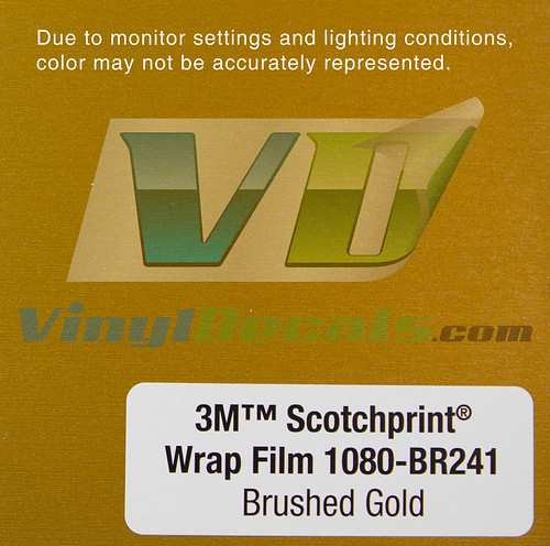 3M Scotchprint Vinyl Wrap Film - Brushed Gold | by VinylDecals
