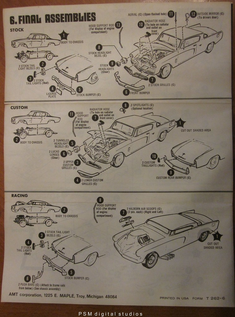 1953 Studebaker Loewy Coupe Instructions Sheet Double W Flickr