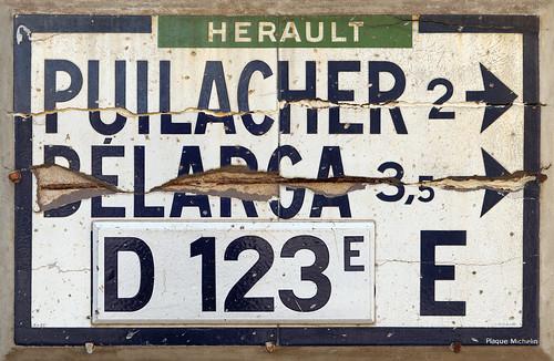 plaque murale michelin de 1937 l estang h rault 34 la flickr. Black Bedroom Furniture Sets. Home Design Ideas