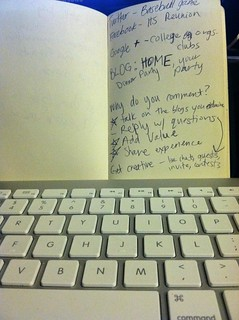 Handwritten notes + keyboard = blog post | by jennalanger