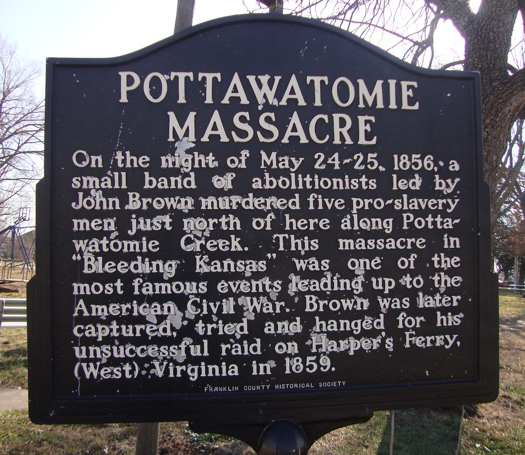Kansas franklin county lane -  Pottawatomie Massacre Marker Lane Kansas By Courthouselover