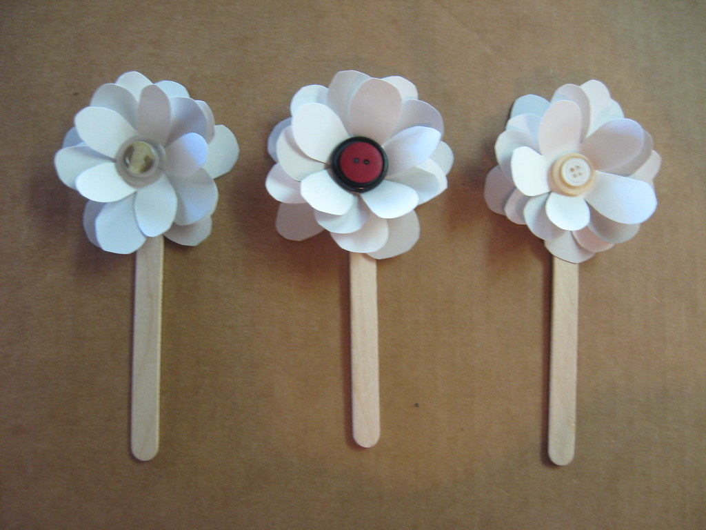 Simple Paper Flowers On Sticks Joni Marie Newman Flickr