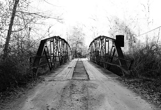 Pony Truss Bridge over Neches River Relief, CR1155 0114121607BW | by Patrick Feller