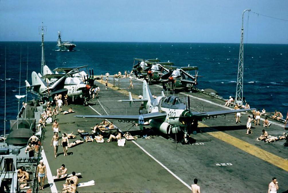 17 July 1953 Saw Sydney Achieve 10 000 Deck Landings When Lieutenant Mander Al Oakley Of 817 Squadron Landed His Firefly On Board Enroute To Hawaii