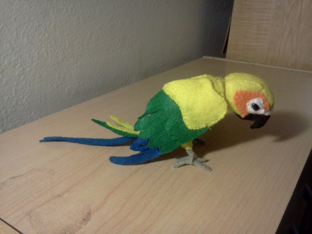 Sun Conure Plush Made This Little Guy Yesterday From A Pat Flickr