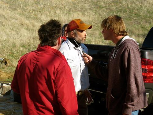Paul Morrell, Clint Howard, Charlie O'Connell,  #HUFFmovie , Production Stills