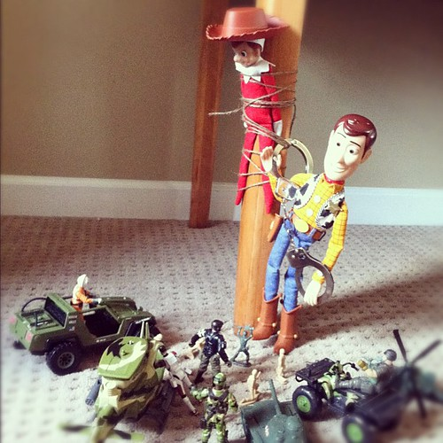 Law and Order {elf style} Woody's hat has been recovered.  #elfontheshelf | by Talysa