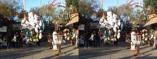 3D, Balloon Vendor, Wagon Camp, Tinker's Shack, from Gold Mine Road, Knott's Berry Farm, Buena Park, California, 2011.13.03 15:16 | by Dr. Disney Wizard