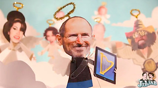 Steve Jobs from JibJab's 2011 Year In Review Video | by Photo Giddy