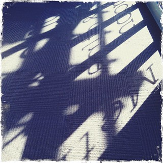shadows through the window at my yoga studio | by treiCdesigns