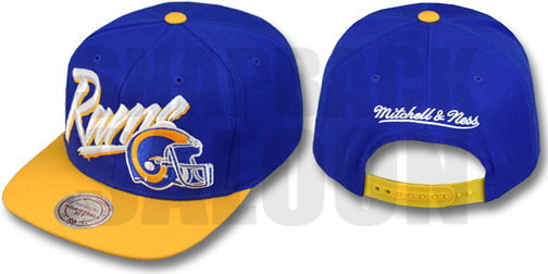 ... NFL Mitchell   Ness -Los Angeles Rams 2T Vice Snapback Hats Royal Gold  b815758c6764