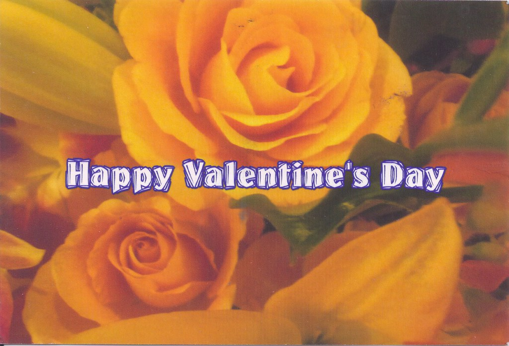 ... Yellow Roses Happy Valentineu0027s Day | By Mailbox Happiness Angee At  Postcrossing