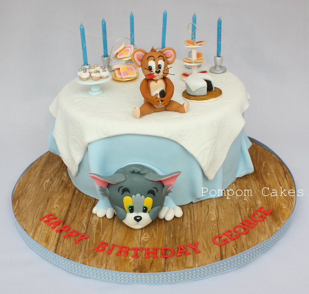 Tom And Jerry Cake A Sixth Birthday Cake For A Little Boy Flickr