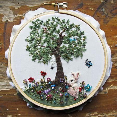 embroidery hoop wall art | the blog post: sacrificialrabbits… | Flickr