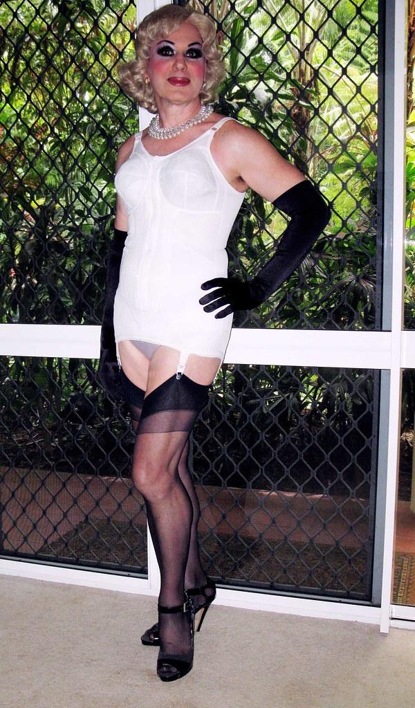 Transvestite in girdles