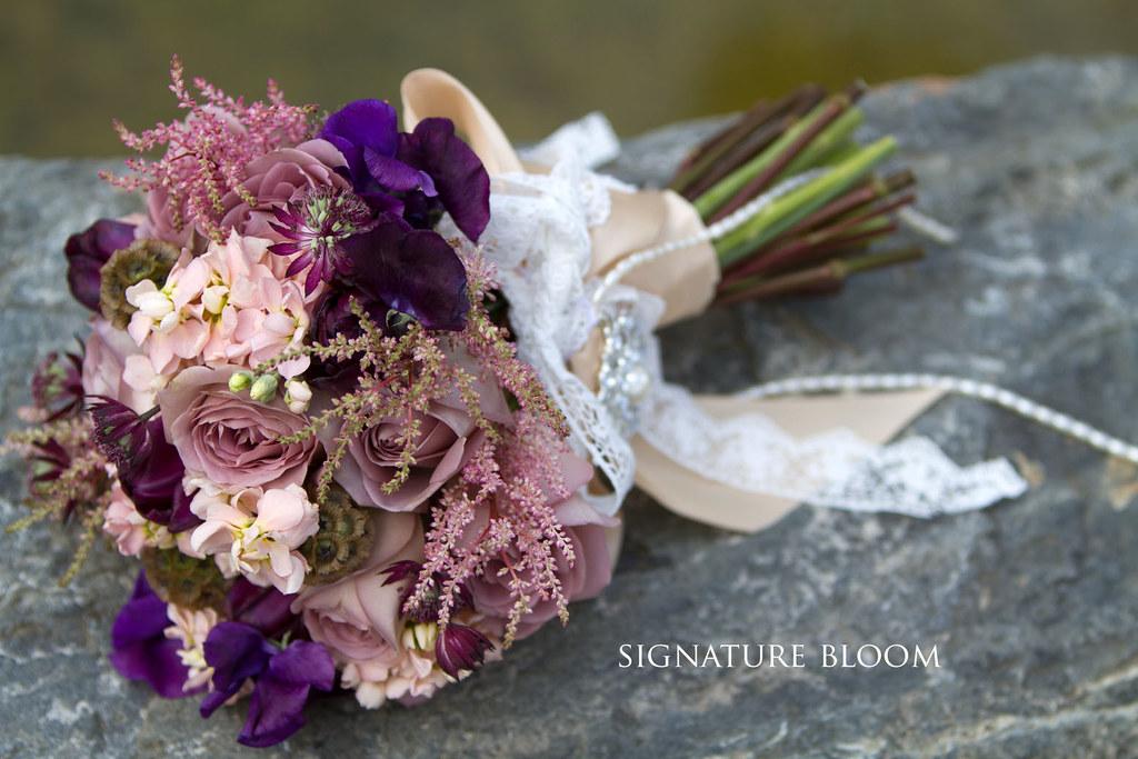 Wedding Flowers San Jose, Mauve Vintage Bouquet | This vinta… | Flickr