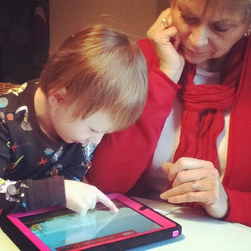 Teaching Nana all about Angry Birds. | by MsZDub