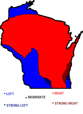 Wisconsin political map | A map of Wisconsin's political lea… | Flickr