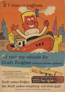 If I Were a Tugboat..I'd Toot My Whistle For Kraft Fudgies | by The Cardboard America Archives