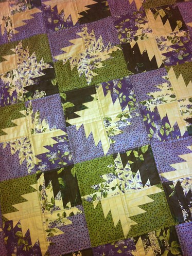 Lilac Hill Buzz Saw quilted | by CoraQuilts~Carla