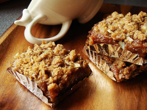 Sticky Chewy Rye & Date Bars | by ComeUndone