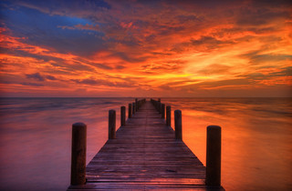 Pier at Sunset in Kep, Cambodia | by fromadream
