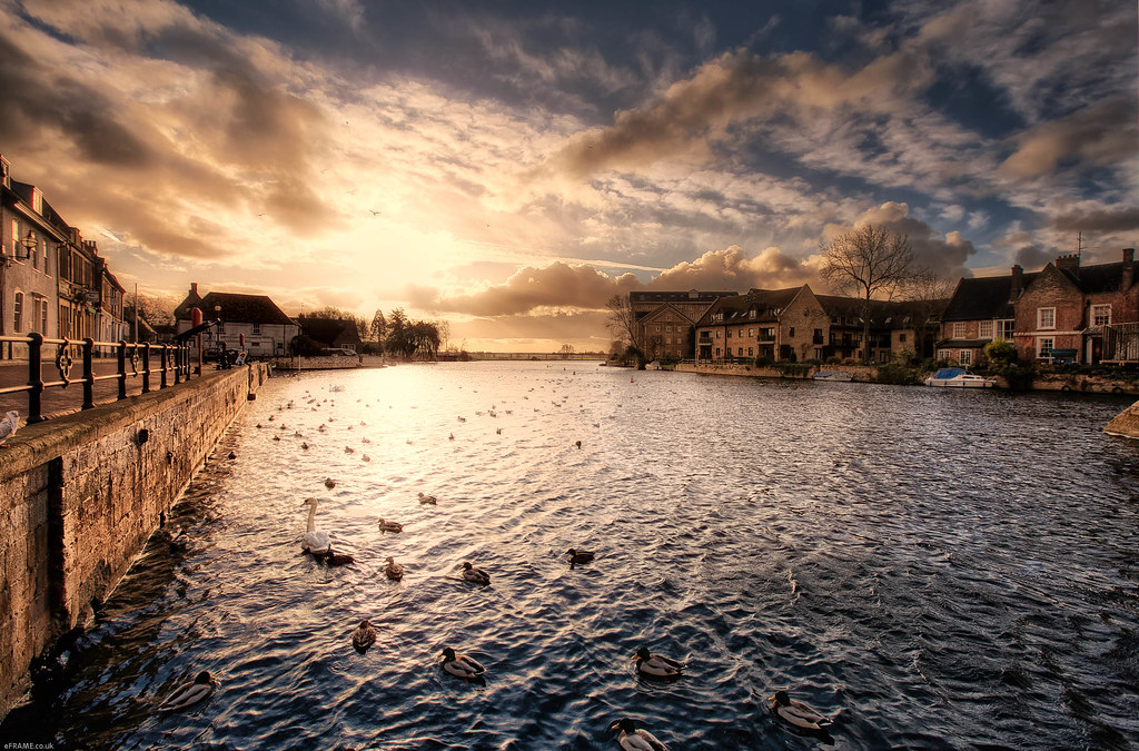 Evening Time in St Ives, Cambridgeshire (HDR) | Best viewed … | Flickr