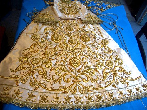 hand embroidered vestment for our patrona | by rlr224, oar