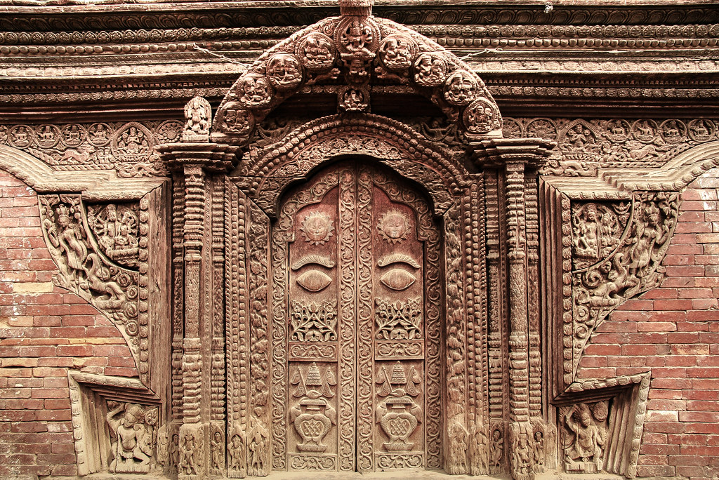 Even For The Newaris These Wood Carvings On A Door Is Unu Flickr