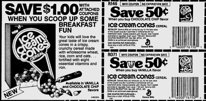 Ice Cream Cones Newspaper Ad Coupon 80 S Plaidman76 Flickr