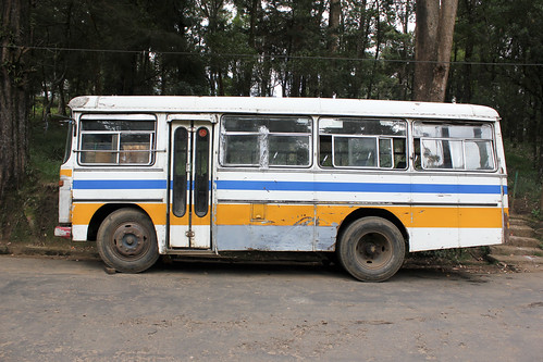 An old bus in Nuwara Eliya | by roelfina