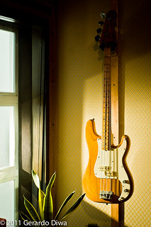 Fender Precision Bass Guitar in the Sunrise/Sunset | by soundweavers