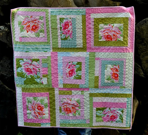rose baby quilt | by vickivictoria