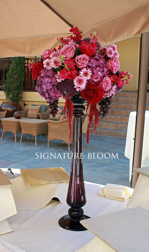 Wedding Florist Los Gatos CA, Purple Centerpieces | Buffet c… | Flickr