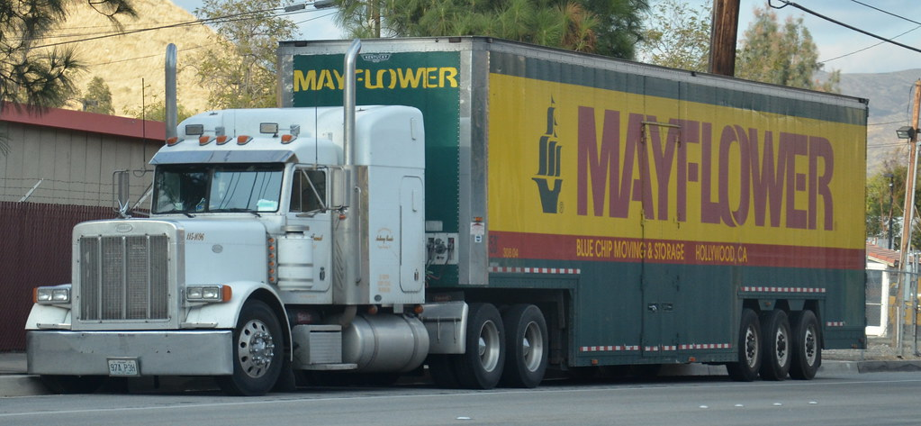 ... MAYFLOWER (BLUE SHIP MOVING U0026 STORAGE)   PETERBILT BIG RIG TRUCK | By  Navymailman