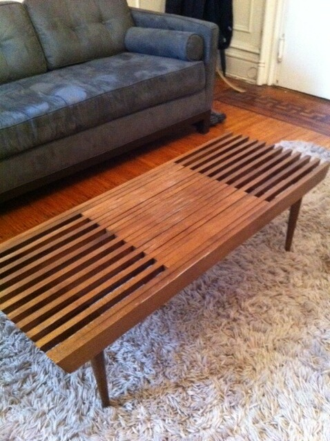 ... Mid Century Expandable Slat Coffee Table | By Newredshoes