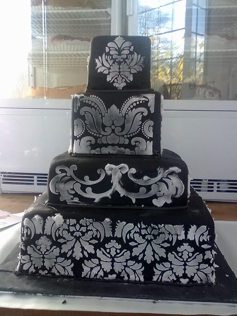 Schwarz Weisse Hochzeitstorte Ute Kosmell Flickr
