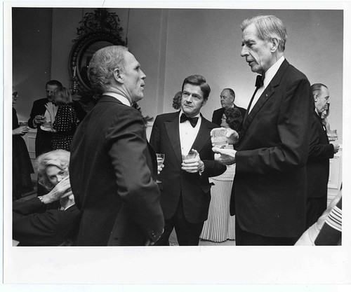 Mayor Kevin H. White and J.K. Galbraith at Fiedler Birthday | by City of Boston Archives