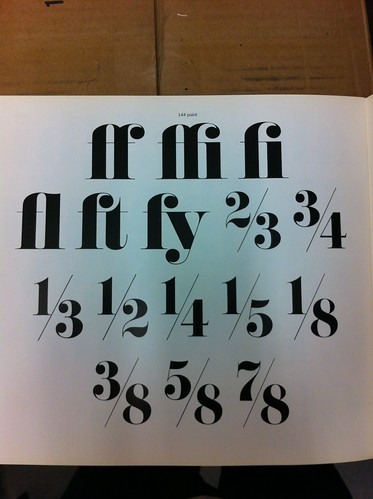 Pistilli Roman ligatures and fractions | by Herb Lubalin Study Center