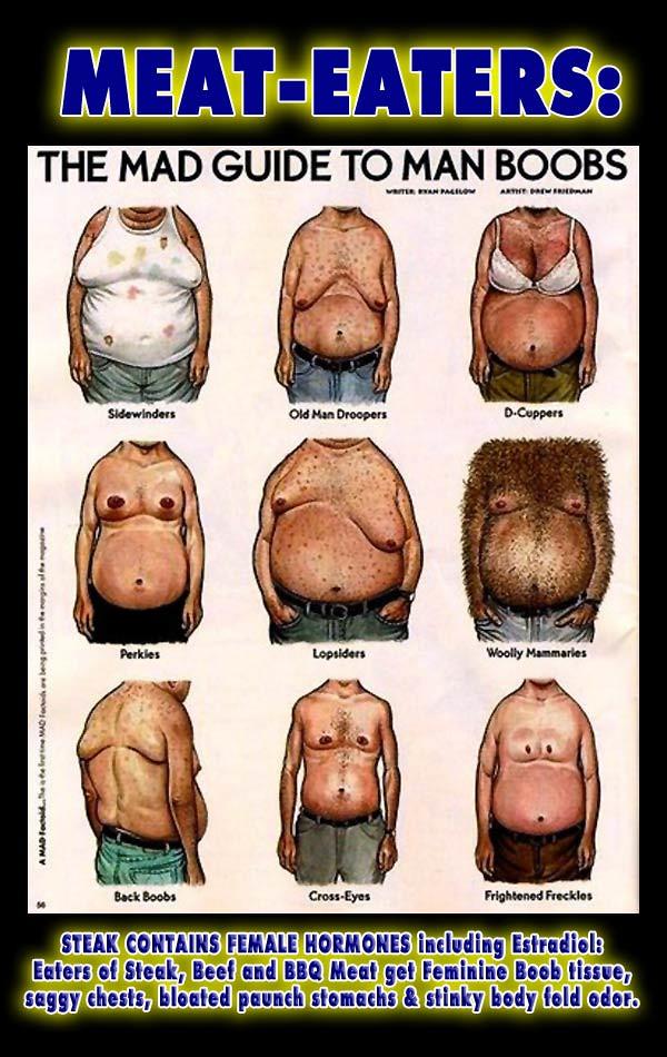 Hormonal breast growth in men