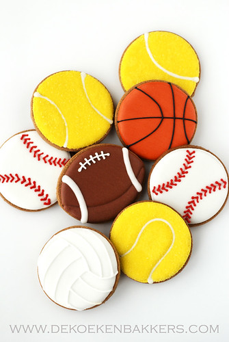 Sports ball cookies | by De Koekenbakkers