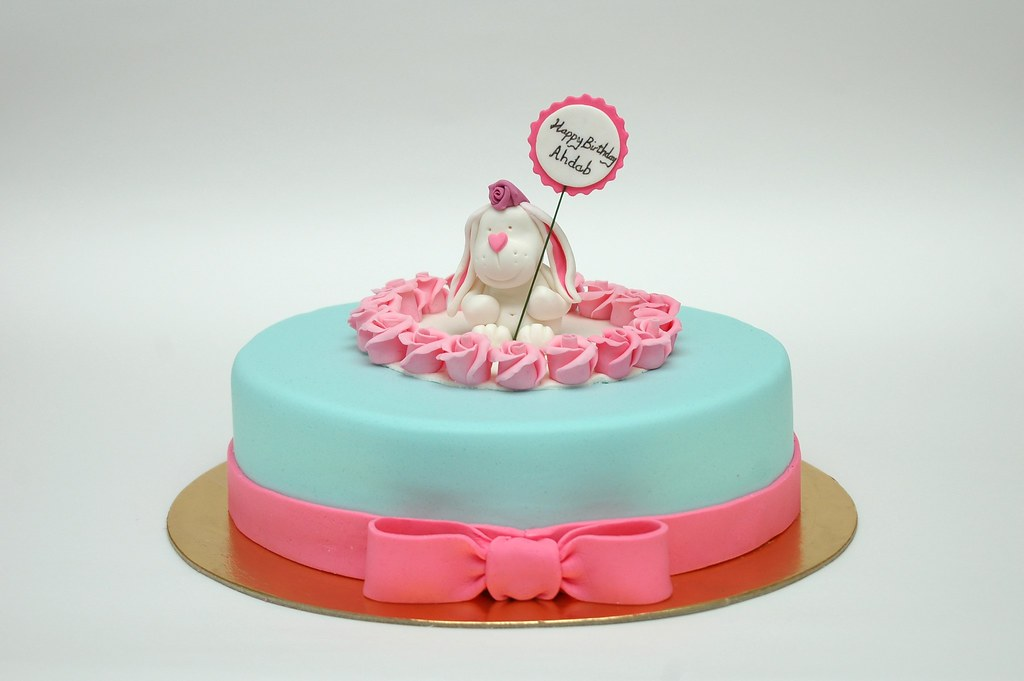 Enjoyable Cute Bunny Birthday Cake The Cake Topper Is Inspired By Th Flickr Birthday Cards Printable Riciscafe Filternl