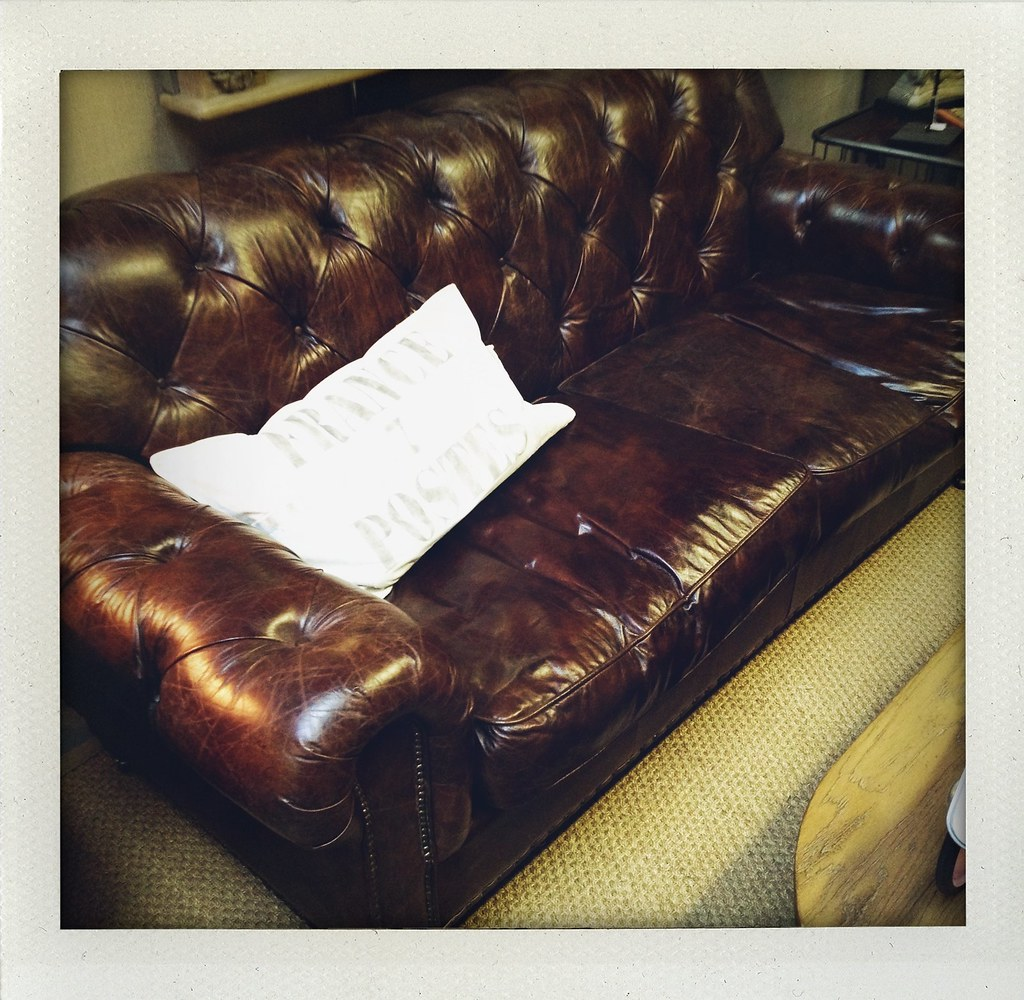 Distressed Brown Leather Chesterfield Sofa 2895 Paris On