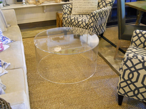 Handmade lucite coffee table | by celadonhome