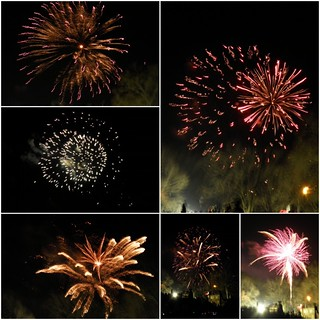 2012 New Year's Fireworks - collage | by LoriMoonStudio