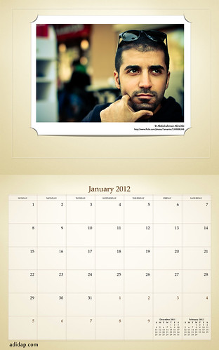ADIDAP Calendar 2012 US Retro January | by akhater