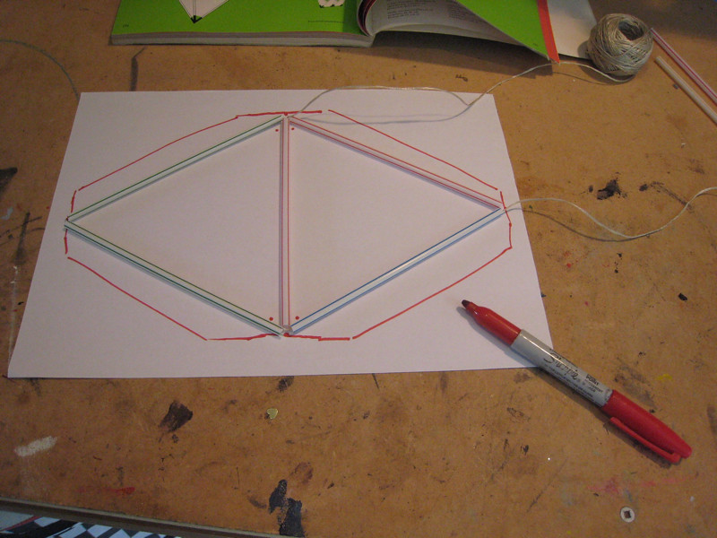 Tetrahedral Kite Rough Template For Sail Pattern Flickr