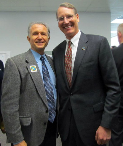 Congressman Herger with Ben Carter, Chairman of the Central Valley Flood Protection Board | by repwallyherger