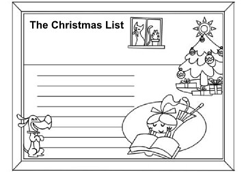 christmas list coloring page by bindlegrim